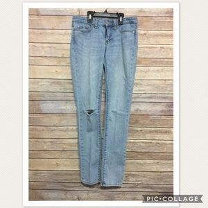 Gap Skinny Fit Jeans Destroyed Light Wash Junior